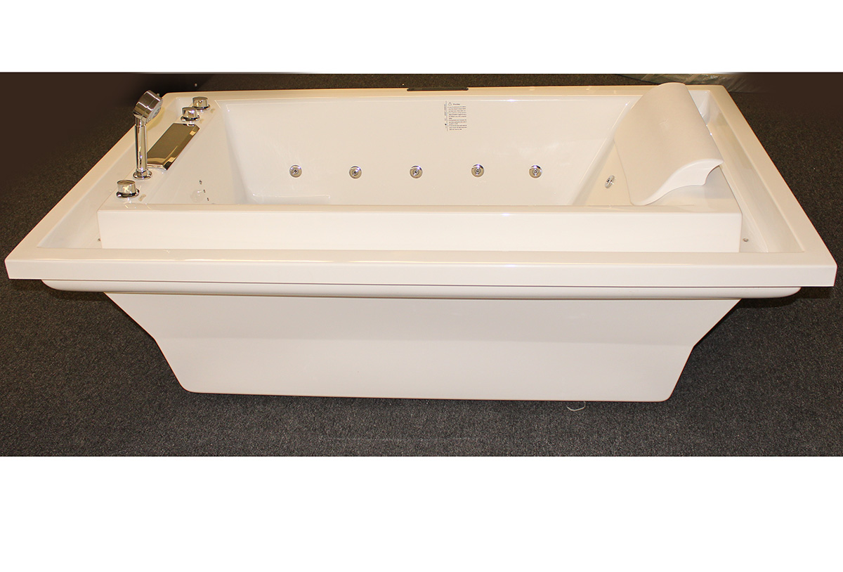 deluxe hydromassage jetted bathtub whirlpool m1910 d constar usa