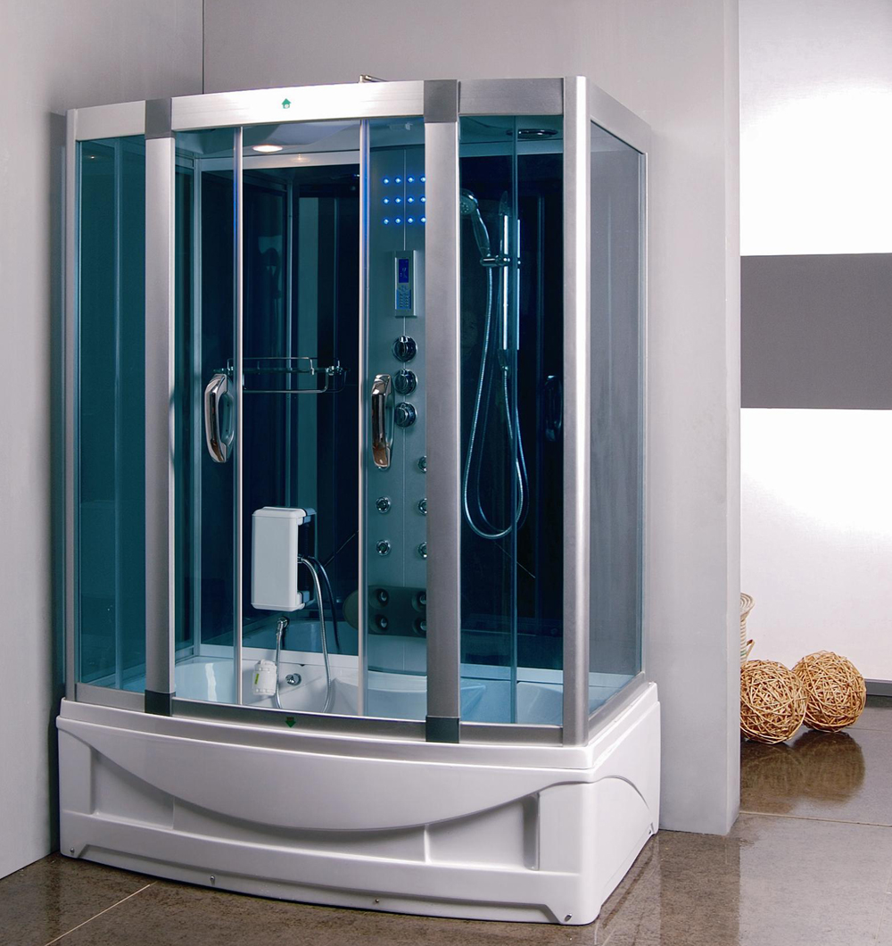 Merveilleux Steam Shower Room With Deep Whirlpool Tub. 9004   Image 1