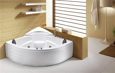 Corner Jetted Bathtub Hydromassage Whirlpool Air Bubble