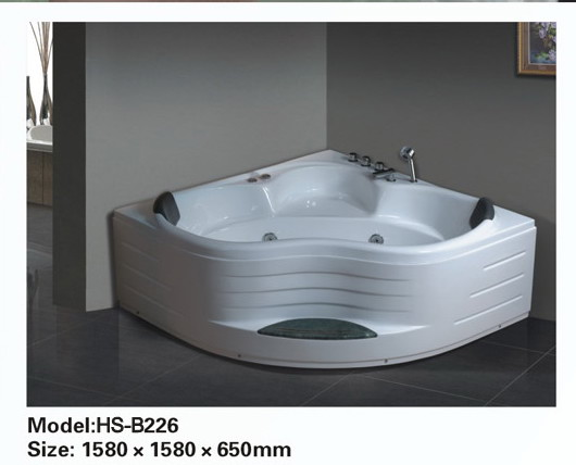 Corner jetted bathtub for 2 person b226 sale constar usa for Whirlpool tubs on sale