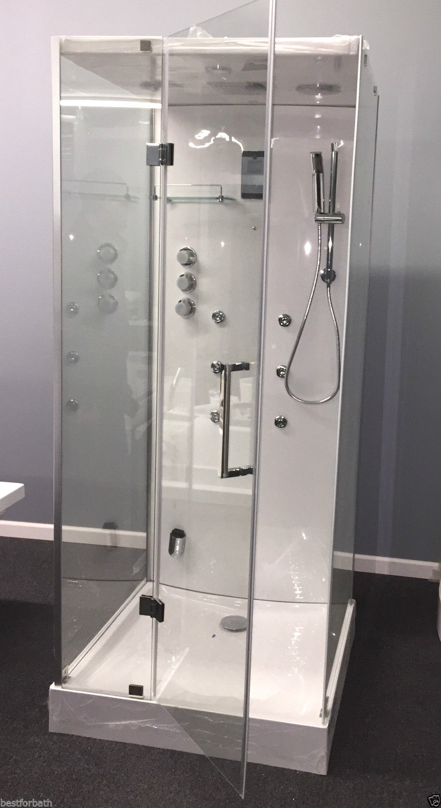 Steam Shower Cabin W Hydro Massage Bluetooth 09009