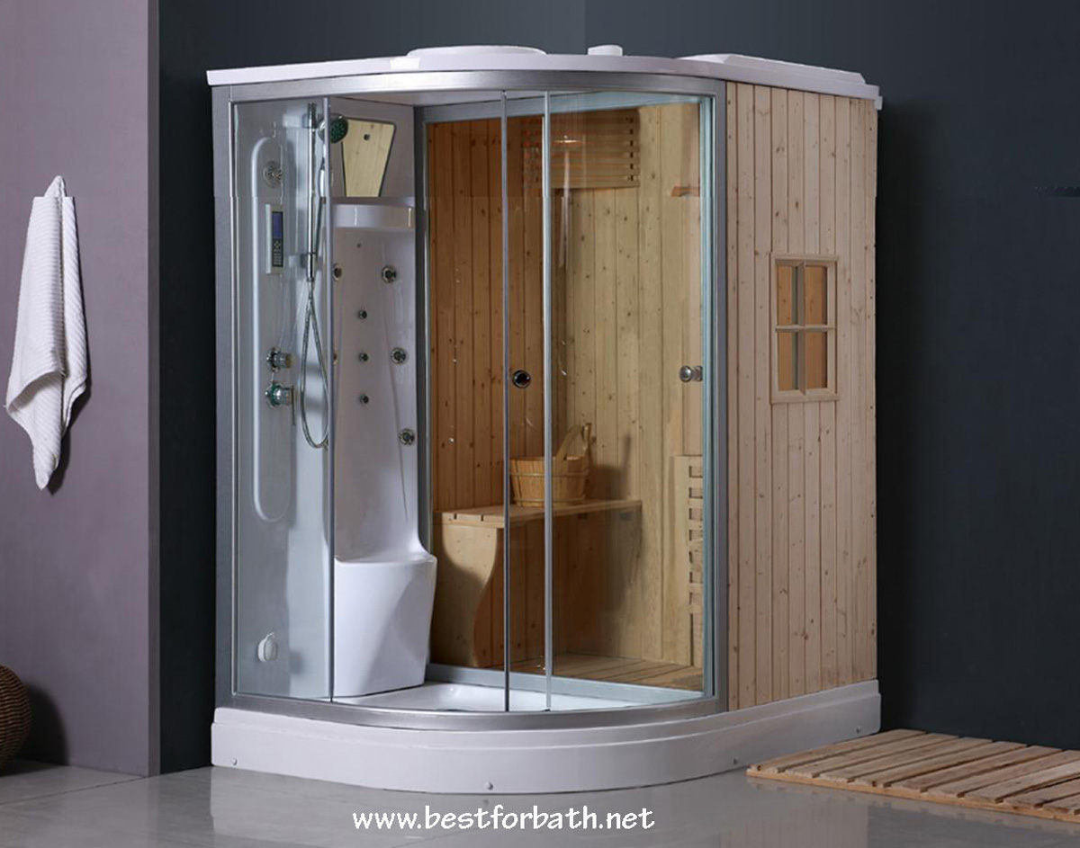 Deluxe Shower / Dry Sauna Combo System + Steam Cabin. B001 - Constar USA