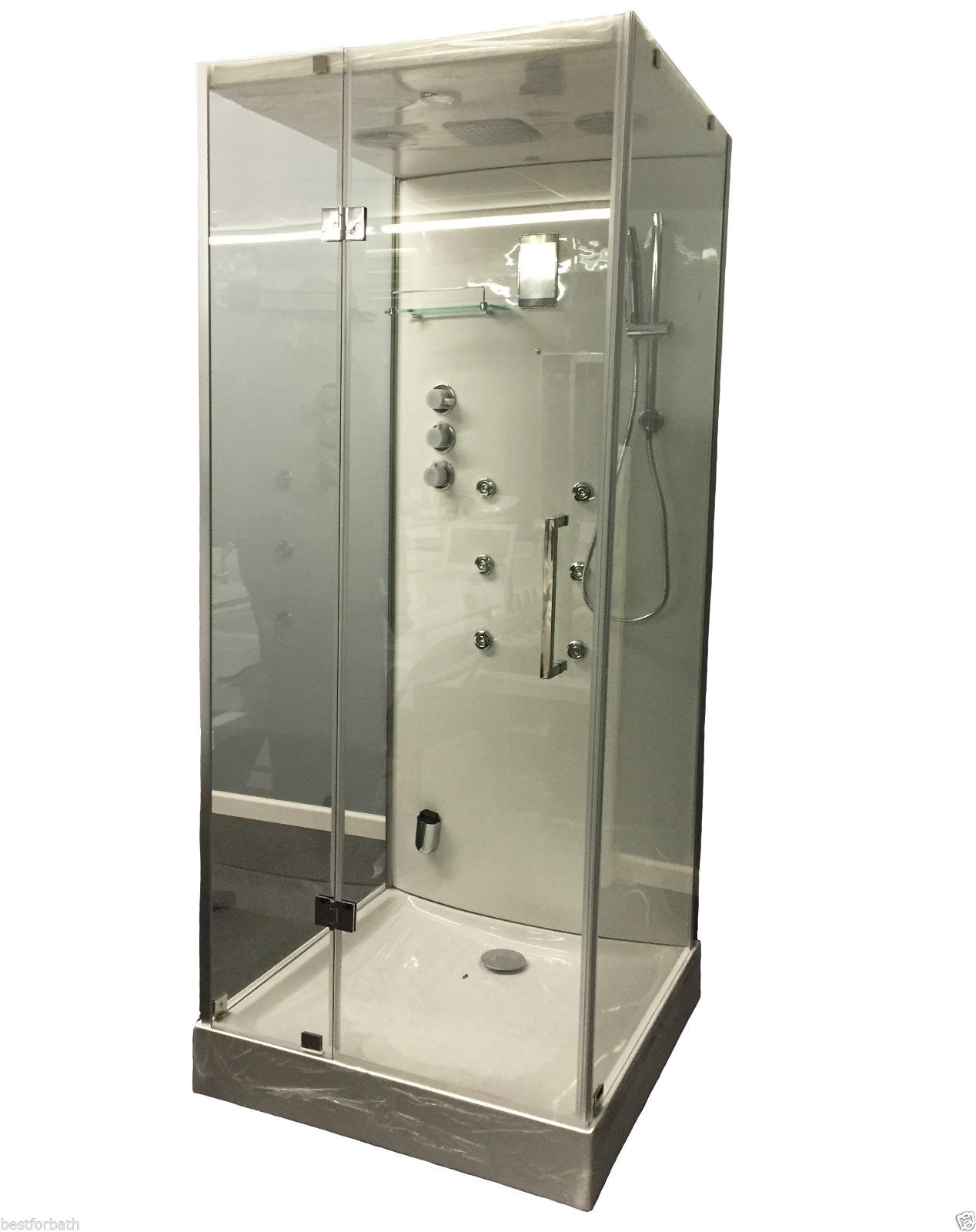 Steam Shower Cabin w/Hydro Massage.Bluetooth. 09009 - Image 1