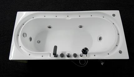 Hydrotherapy massage bathtub with multicolored LED waterfall. B306 - Image 3