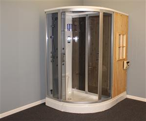 Deluxe Shower / Dry Sauna Combo System + Steam Cabin. B001 - Image 20