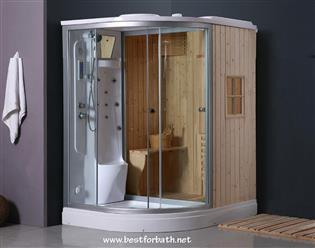 Deluxe Shower / Dry Sauna Combo System + Steam Cabin. B001 - Image 1