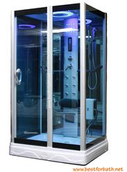 Square Steam Shower Enclosure W/Hydro Massage Jets.Aromatherapy.Bluetooth.  9009 $2,700.00 $1,900.00